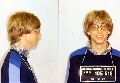 Bill Gates caught by police