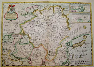 A new chronology pax yuan the world system of trade and tribute a new map of great tartary and china map by edward wells 1704 sciox Image collections