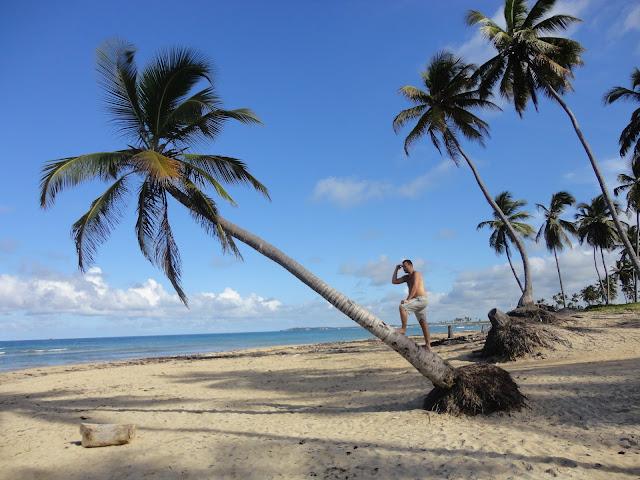 Praia deserta em frente ao hotel Dreams Punta Cana