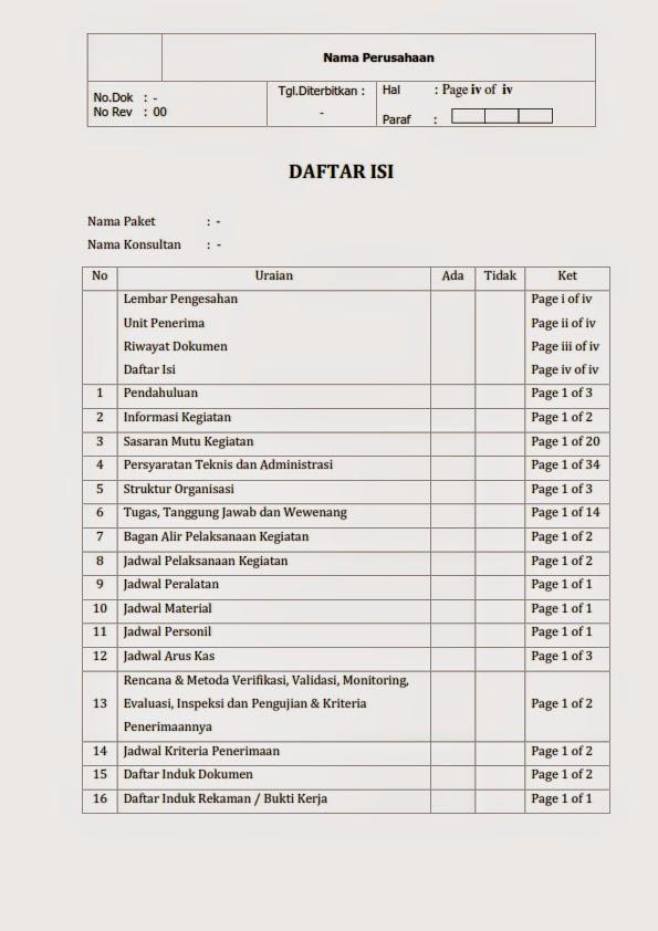 Laporan Perencanaan Format Ms Word 2007 Konsultan Teknik Sipil