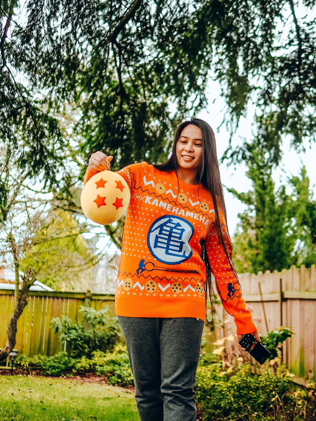 DBZ anime turtle seattle blogger holiday ugly christmas sweater