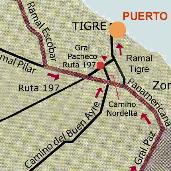 Como llegar a tigre como llegar for Benetton quedara autopista panamericana acceso oeste