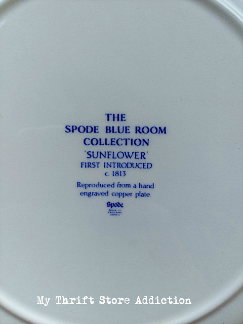 Spode Sunflower Blue Room Collection plates