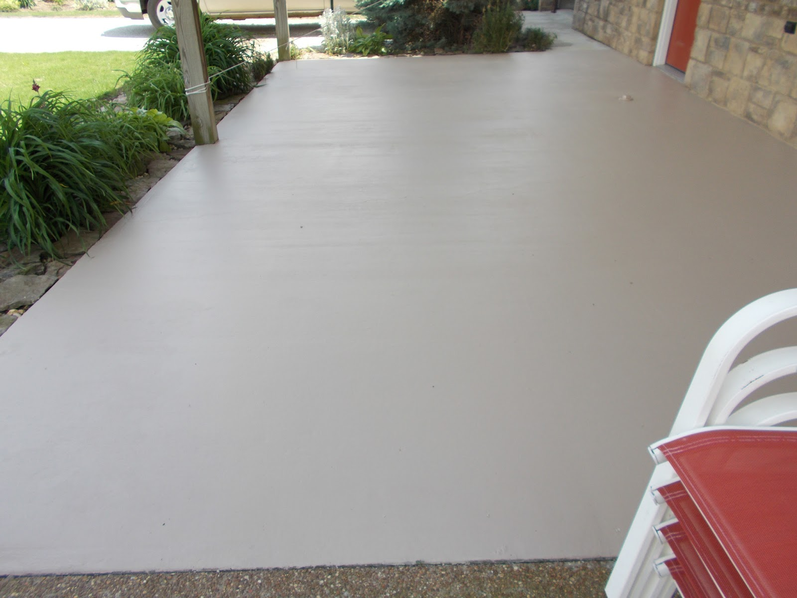 Simple Fabulous Painting Concrete Porch Good Flooring Ideas