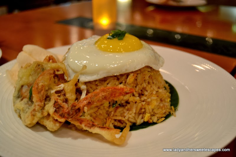 The Noodle House's Soft-Shell Crab Nasi Goreng