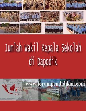 Jumlah Wakil Kepala Sekolah yang diakui Dapodik
