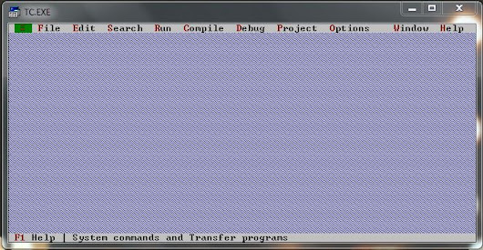 Full screen turbo c