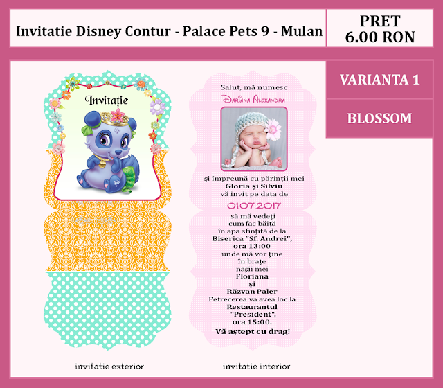 invitatii botez contur Palace Pets 9