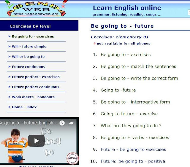 https://agendaweb.org/verbs/future-be-going-to-exercises.html
