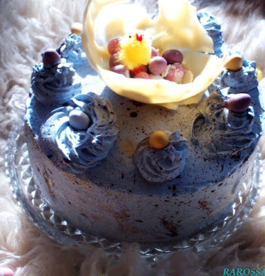 Speckled Easter Egg Chocolate Cake