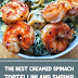 The Best Creamed Spinach Tortellini and Shrimp #shrimprecipes