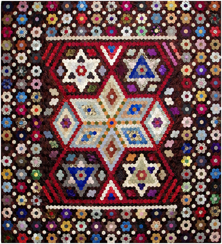 Gertrude Mary Day - Hexagon Quilt (stars and tumbling blocks) | Making the Australian Quilt 1800-1950