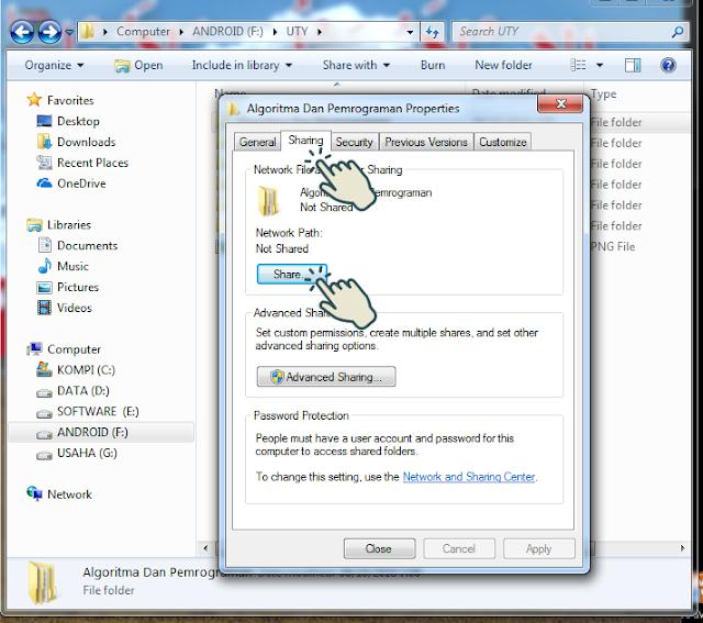 Sharing file atau folder 2