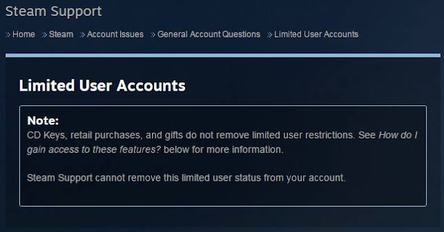 Cara Menghilangkan Limited Steam Account
