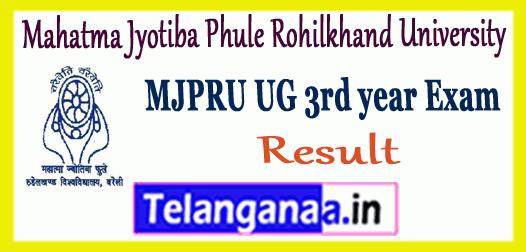 MJPRU Mahatma Jyotiba Phule Rohilkhand University UG 3rd Final Year Result