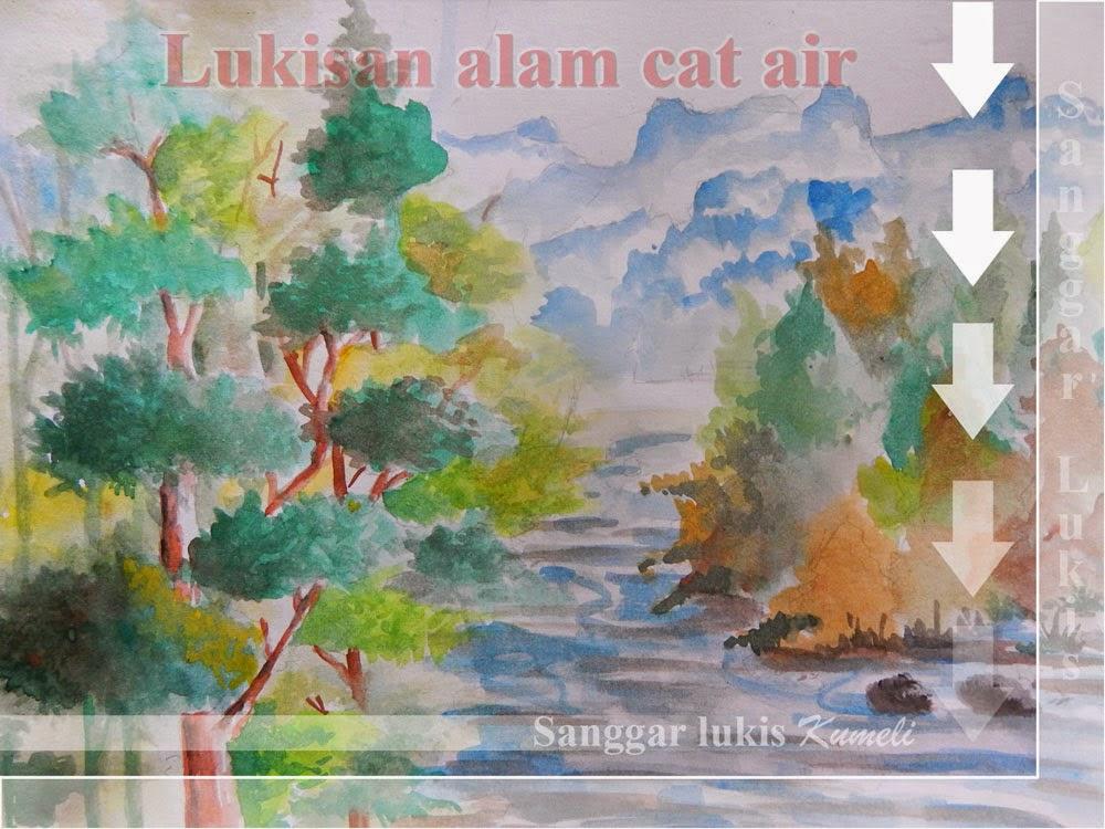 Belajar menggambar LUKISAN TEHNIK CAT AIR
