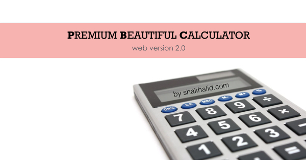 premium beautiful calculator web version 2.0