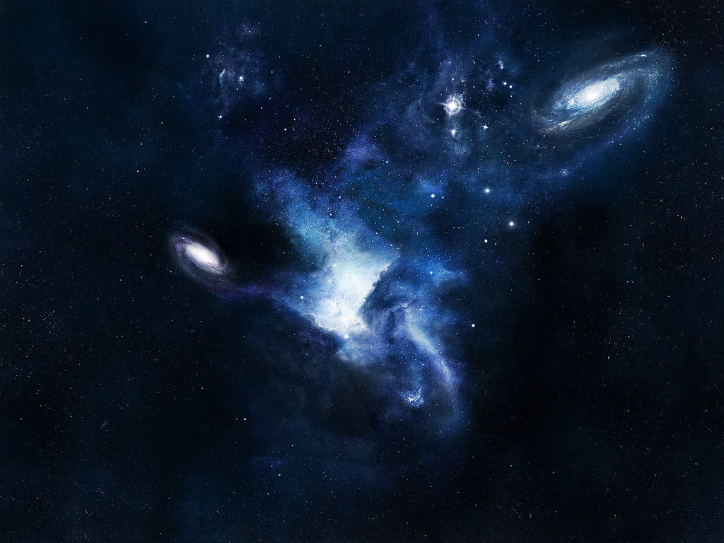 Space wallpaper hd to enhance appearance of your desktop - Blue space hd ...