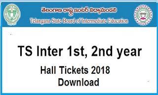 TS Intermediate Hall Ticket 2018