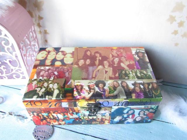 caja collage de fotos de amigas