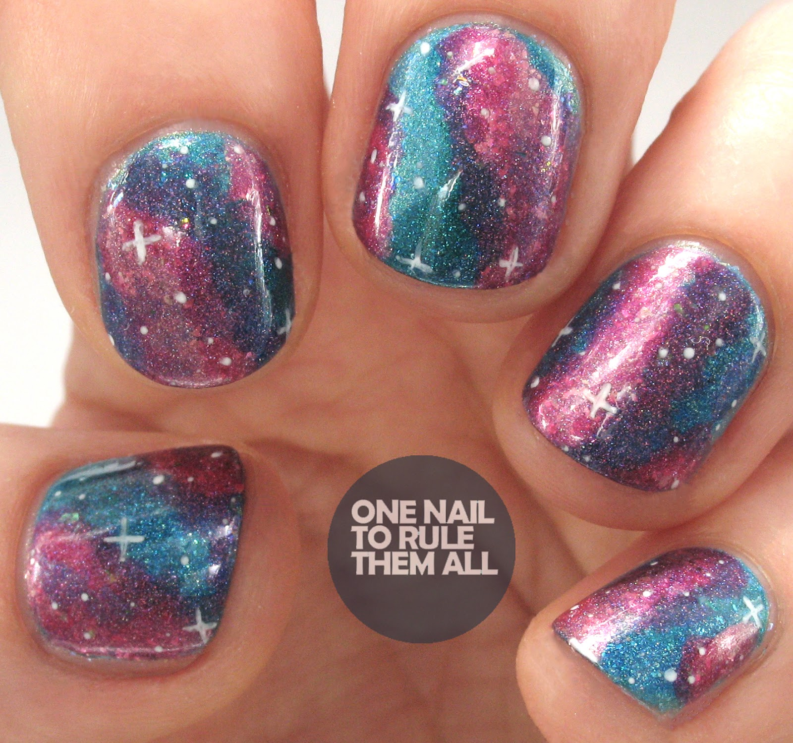 One Nail To Rule Them All: Celestial Cosmetics Galaxy Nail Art
