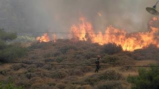 Μεγάλη πυρκαγιά στην Εύβοια- Εκκενώθηκαν δύο χωριά- Έκλεισαν δρόμοι (upd)