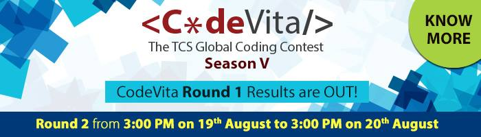 Geek: TCS CodeVita 2016 Round 1 result