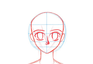 How To Draw Anime Manga Face Step 6
