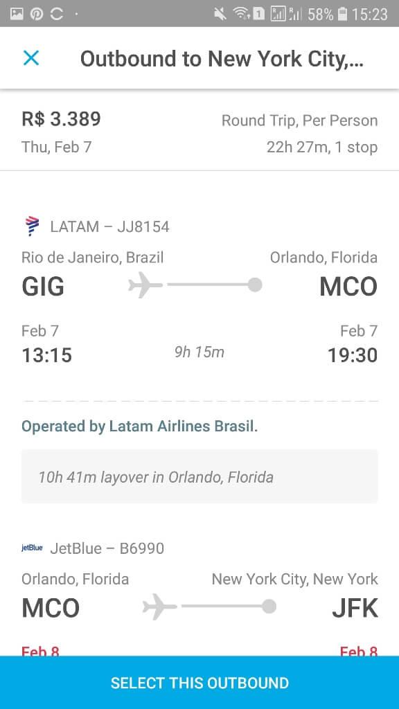 Aplicativo para monitorar passagens aéreas