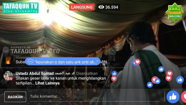 Kekuatan Sosial Media, Mantap Ustadz Abdul Somad Kebanjiran Puluhan Ribu Penonton! Allahu Akbar!