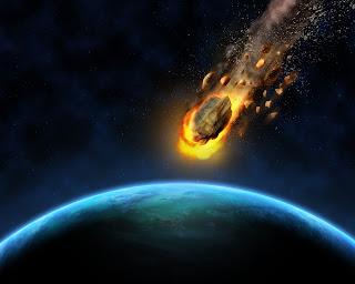 كويكب يدخل الغلاف الجوي للارض