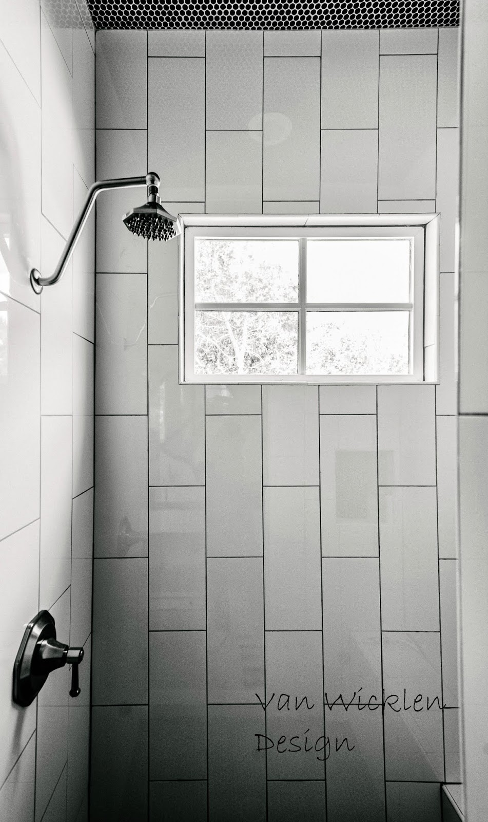 Black And White Penny Tile Bathrooms | Home and Garden Show