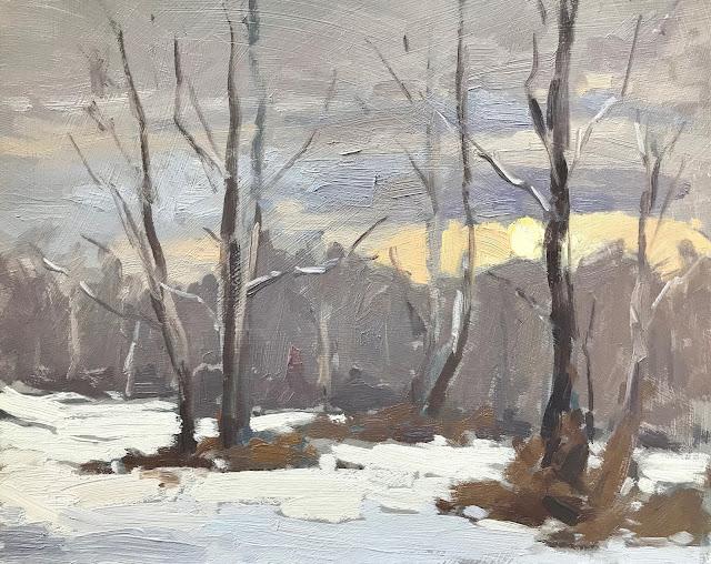 #274 'Silver Birch in Snow' 8×10″