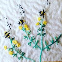 abeilles broderie cecile franconie