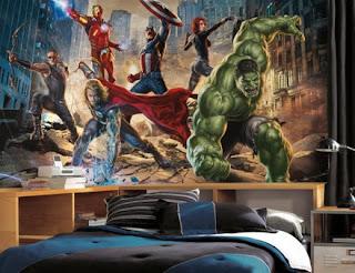 tapet ungdomsrum marvel hulk thor ironman Avengers