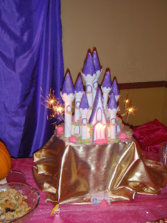 Princess Birthday Party Cake with Sparkler Candles