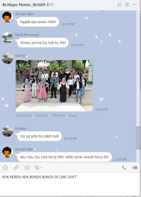 chat line ada bunga sakura, cara line messenger ada bunga warna pink, line chat sakura petals