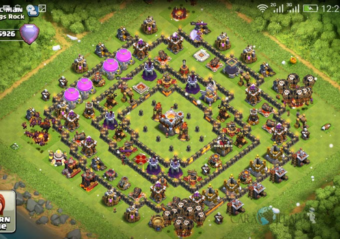 Base Trophy TH 11 COC Update Bomb Tower Terbaru 2017 Tipe 1