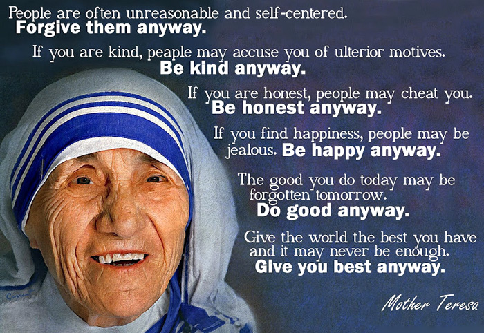 Catholic News World Quote To Share By St Motherteresa People