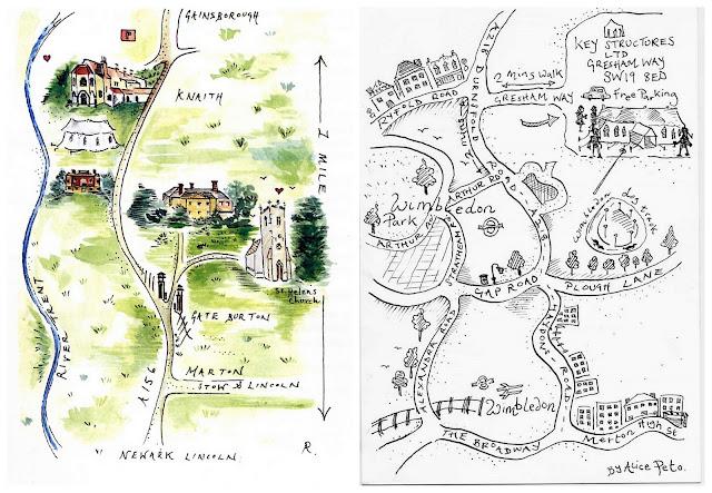 Wedding Invitation Map Maker: Original Hand-Painted Wedding Stationery & Maps