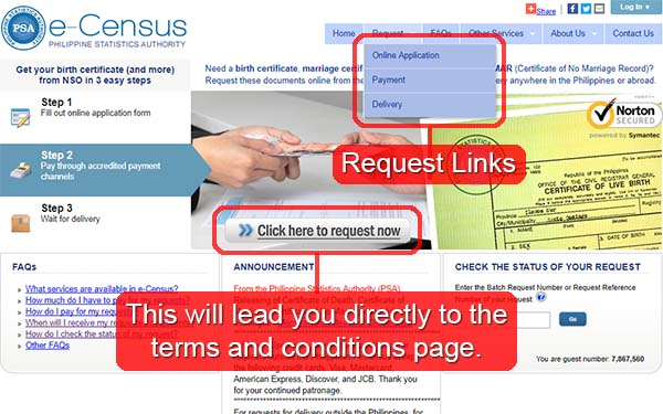 eCensus main page