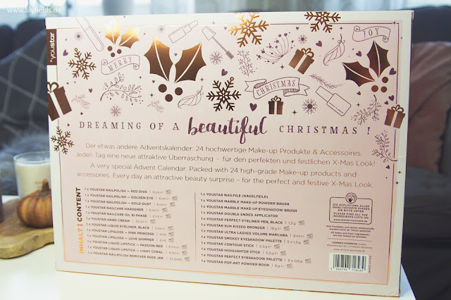 YOUSTAR - BEAUTIFUL X-MAS Adventskalender 2018 - unboxing