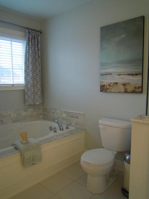 White Wood Finished Master Bath