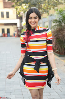 Adha Sharma in a Cute Colorful Jumpsuit Styled By Manasi Aggarwal Promoting movie Commando 2 (67).JPG