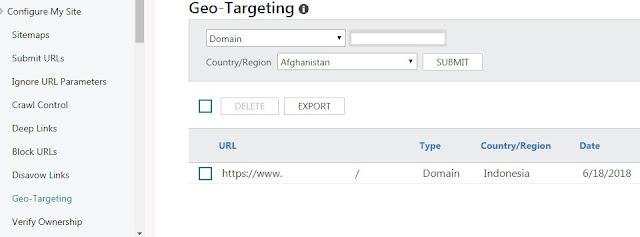 Gambar Geo Targeting Bing Webmaster
