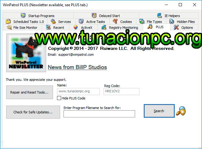 WinPatrol PLUS Protección Completa Imagen