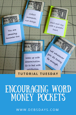 Homemade Encourage Words Note Pockets for Kindness Project Idea