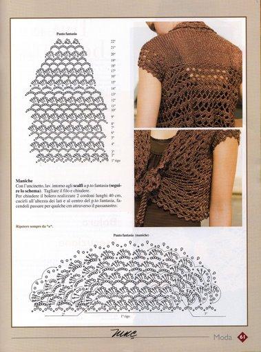 Patrón para tejer Bolero