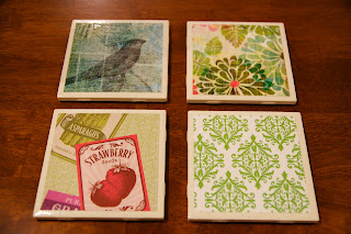 How to make adorable tile coasters