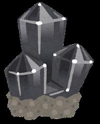 鉱石のイラスト(台座付き・黒)
